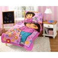 Dora Explorer Toddler Bedding Set 4 Pc Comforter Sheets Bed Where To Buy
