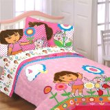 Dora The Explorer Full Bedding Set 5pc Floral Bed In A Bag Where To Buy