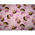 SheetWorld Fitted Crib / Toddler Sheet - Dora Pink - Made In USA Discount