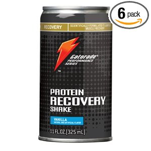 Gatorade Performance Series Protein Recovery Shake, Vanilla, 11-Ounce Cans (Pack of 6)