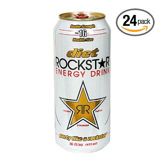 Rockstar Energy Drink, 16 Ounce Can (Pack of 24)