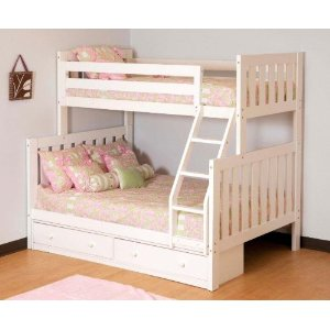 Canwood Alpine II Twin over Full Bunk Bed with Ladder/Guard Rail