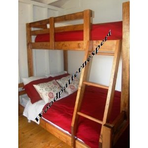 PLANS TO BUILD BUNK BED PLANS (TWIN OVER FULL or FULL OVER QUEEN or QUEEN OVER KING BUNK BED Pattern)