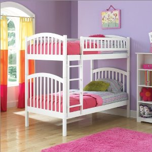 Twin over Twin Atlantic Furniture Richmond Style Bunk Bed in White