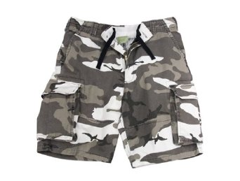Vintage Paratrooper Style Cargo Shorts, City Camouflage
