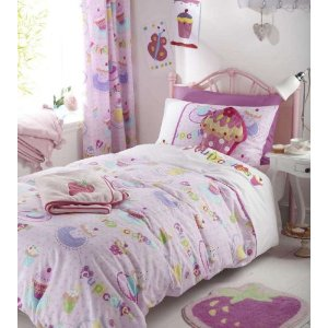FULL GIRLS KIDS CUTE PINK EMBROIDERED APPLIQUED COTTON DUVET SET QUILT COVER