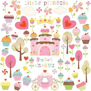RoomMates RMK1605SCS Cupcake Peel and Stick Wall Decals