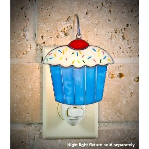 SWITCHABLES SW-137 - CUPCAKE Stained Glass Night Light Cover - Night Light Fixture Sold Separately