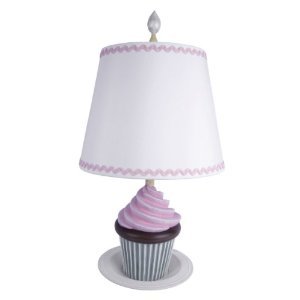 Sammy 8814-87 Cupcake Deliciousness Table Lamp, Pink