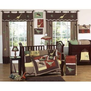 Dinosaur Baby Bedding 9pc Crib Set by JoJo Designs
