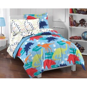 Dinosaur Prints Twin Multicolor Comforter Set