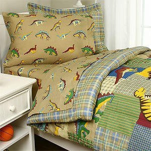 Lost World Dinosaurs Twin Comforter Set (6 Piece Bed In A Bag)