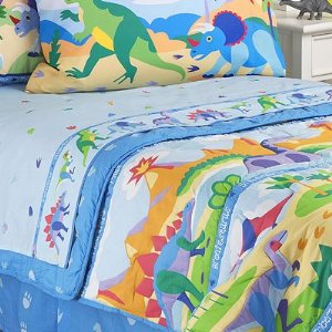 Olive Kids New Dinosaurland Bedding Queen Bed Skirt