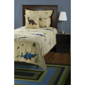 Rizzy Home BT-738F RizKidz Dinosaurs 4-Piece Quilt Set, Full