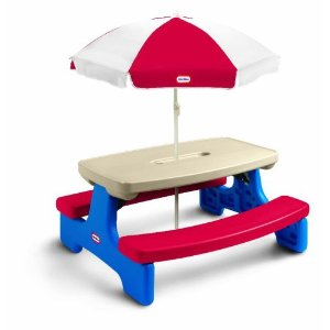 Amazon.com: Picnic Plus Wood Folding Picnic Table W/Umbrella: Clothing