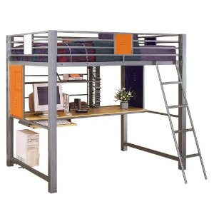 Powell 517-117 Teen Trends Full Loft Study Bunk Kids Bed