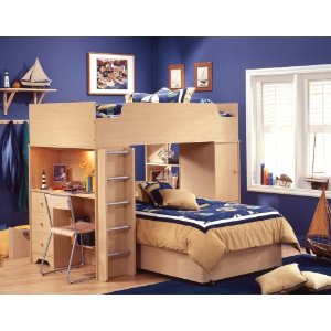 Loft Beds Furniture on South Shore Furniture  Popular Collection  Complete Loft Bed  Natural