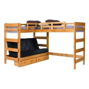 Woodcrest Heartland Futon Twin Bunk Bed with Extra Loft Bed - WCM342