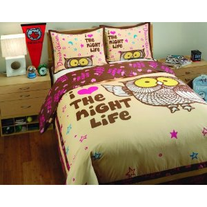 David & Goliath T300 Sateen 100-Percent Cotton Night Life Duvet Set