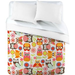 Duvet Cover Cute Little Owls (by DENY Designs)