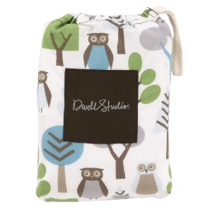 DwellStudio Fitted Crib Sheet, Owls