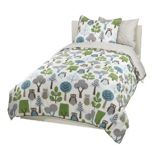DwellStudio Owls Duvet Set, Sky