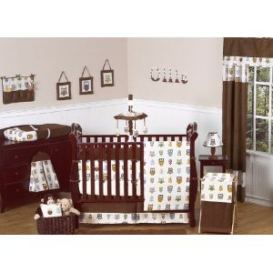 Night Owl Baby Bedding 9pc Crib Set