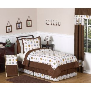 Night Owl Childrens Bedding 3 pc Full / Queen Set