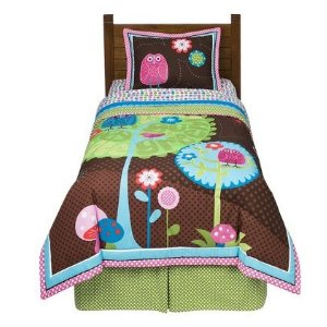 Owl Nature Comforter Set (Twin)