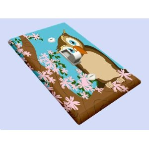 Cherry Tree Owl Decorative Switchplate Cover