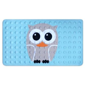 Kikkerland Owl Natural Rubber High Grip Suction Cup Bath Mat