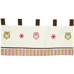 Pam Grace Creations Window Valance, Sweet Dream Owls
