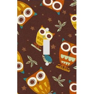 Retro Owls Decorative Switchplate Cover