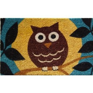 Wise Owl Hand Made Coir Doormat 18