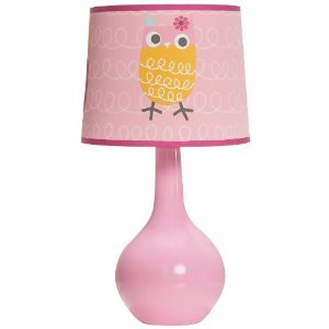 Zutano Owl Lamp Base and Shade, Pink