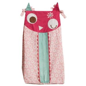 Zutano Owls Diaper Stacker, Pink