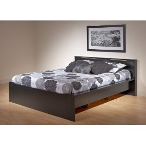Coal Harbor Queen Platform Bed with Headboard (Black) (31.5
