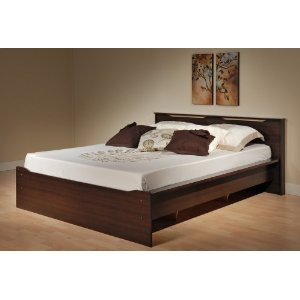 Coal Harbor Queen Platform Bed with Headboard (Espresso) (31.5