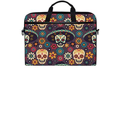 Messenger Bag Skull Flower Colorful Laptop Computer Casual Canvas Satchel Shoulder Bag Traveling Camping Ladybug for Men Women Student