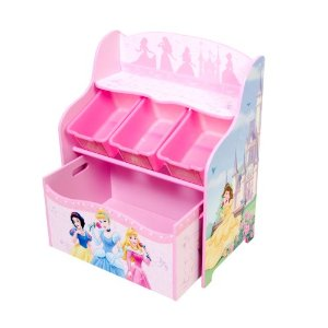 Disney Princess 3 Bin Organizer With Roll Out Toy Box
