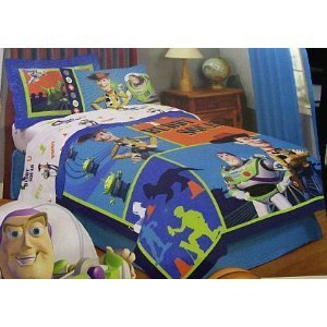 Disney Toy Story Full Size Comforter Bed Cover Buzz Lightyear & Woody