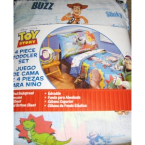 Toy Story 3 Four Piece Toddler Bed Set