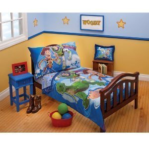 Toy Story 4 Pc Toddler Bedding Set ( Toys to the Rescue)