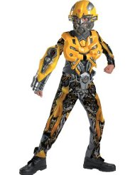 Deluxe Classic Kids Bumblebee Costume - Child Transformers Costumes Cheapest Deals