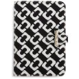 "Diane Von Furstenberg Limited Edition Kayley Canvas Clutch For Kindle (Fits 6"" Display, Latest Generation Kindle) Chain Link Black Discount"