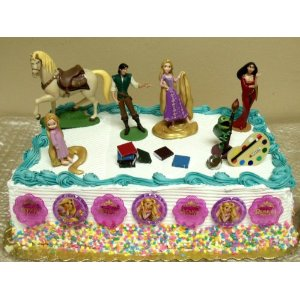 Disney Tangled Homemade Cake Decorations